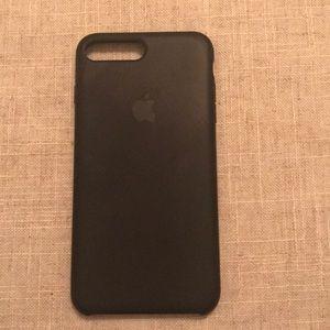 Apple iPhone 7/8 plus black silicone case